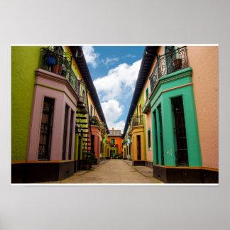 Construções coloridas históricas poster