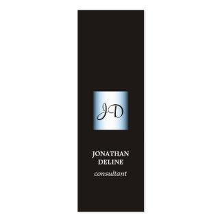 Consultante azul preto elegante moderno do cartão de visita skinny