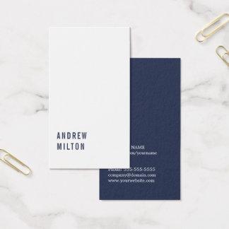 Consultante branco azul escuro minimalista cartão de visitas