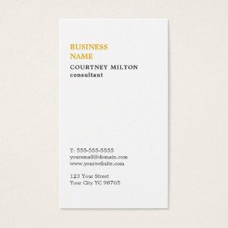 Consultante branco minimalista elegante cartão de visitas