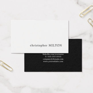 Consultante branco preto minimalista profissional cartão de visitas