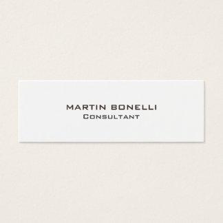Consultante claro original especial indestrutível cartão de visitas mini