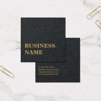 Consultante corajoso do ouro preto elegante cartão de visitas quadrado