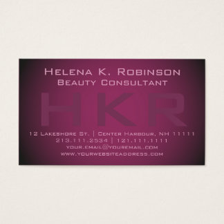 Consultante de beleza elegante do Shimmer do batom Cartão De Visita