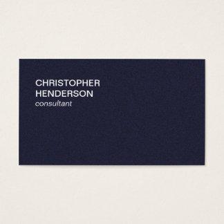 Consultante elegante minimalista do azul da cartão de visitas