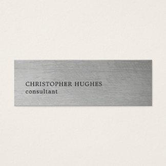 Consultante elegante moderno do cinza da textura cartão de visitas mini