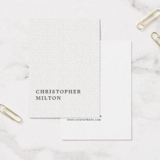 Consultante minimalista elegante do branco da cartão de visitas