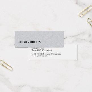 Consultante minimalista elegante do cinza da cartão de visitas mini