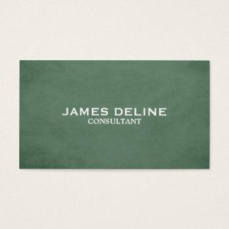 Consultante verde elegante Textured clássico Cartão De Visitas