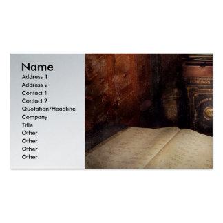 Contador - a oficina do papai noel - atrás das cen cartao de visita