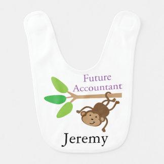Contador futuro babador personalizado do bebê