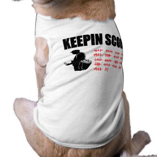 Contagem de Keepin Camisa Sem Mangas Para Cachorro