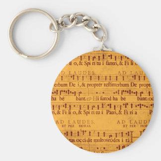 Contagem gregoriana da música do canto chaveiro