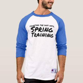 Contando os dias até o treino primaveril t-shirt