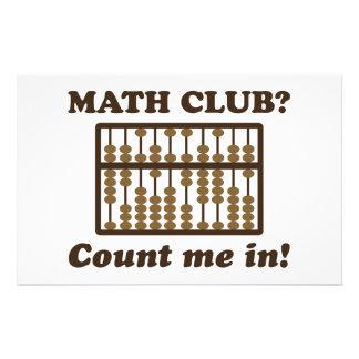 Conte-me no clube da matemática papelaria