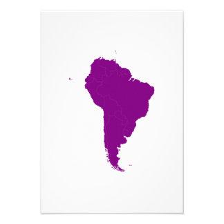 Continente de Ámérica do Sul Convite Personalizado