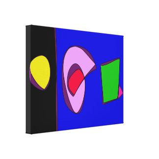 Contraste do azul e do preto impressão em tela
