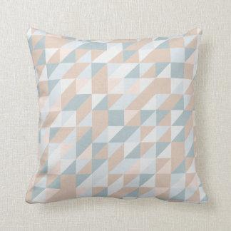 Contraste triangular do travesseiro do teste almofada