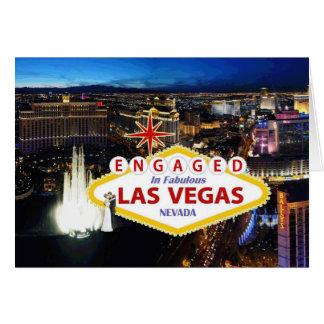 Contratado no cartão fabuloso de Las Vegas