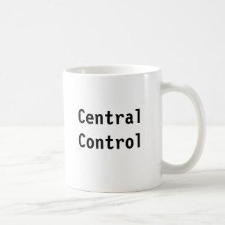 Controle central caneca de café