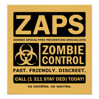 Controle do zombi pôster