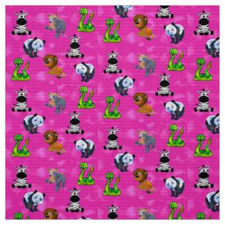 Convenção animal cor-de-rosa tecido
