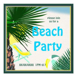 Convite 2 do divertimento do verão do partido do p