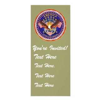 """Convite 4"""" x 9,25"""" América não esquecida…."""