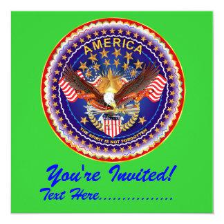 """Convite 5,25"""" x 5,25"""" América não esquecida…. Convite Quadrado 13.35 X 13.35cm"""