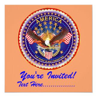 """Convite 5,25"""" x 5,25"""" América não esquecida…."""