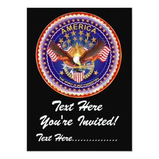 """Convite 5,5"""" X 7,5"""" América não esquecida…."""