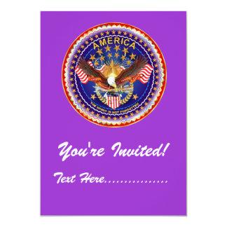 """Convite 5"""" x 7"""" América não esquecida…."""