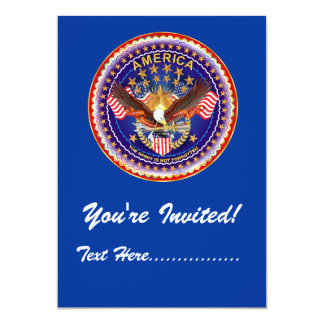 """Convite 5"""" x 7"""" América não esquecida…. Convite 12.7 X 17.78cm"""