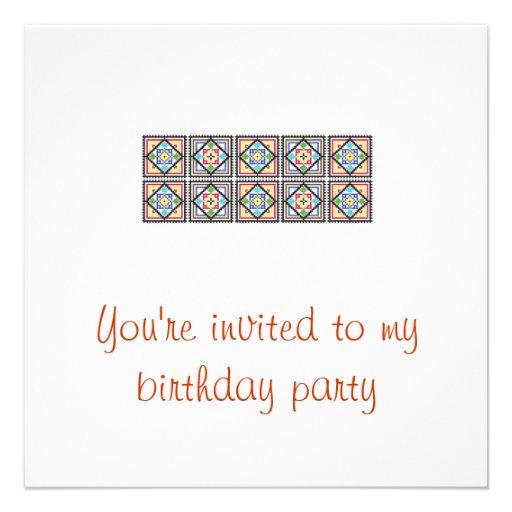 Convite à festa de aniversário