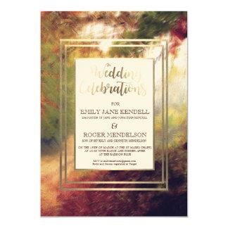 Convite abstrato do casamento da paisagem do