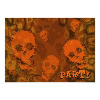 """Convite alaranjado do """"partido"""" dos espectros do"""