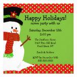 Convite alegre da festa natalícia do boneco de nev