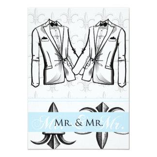 Convite alegre do casamento do noivo de dois