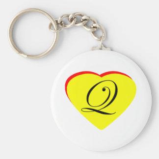 Convite amarelo do casamento do vermelho Q do cora Chaveiros