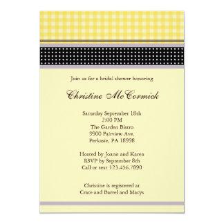 Convite amarelo e preto elegante