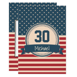Convite americano do aniversário da bandeira das