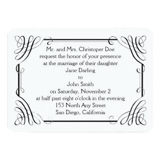 Convite arredondado do casamento de Matt da borda