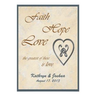 Convite azul do casamento do coração do amor da es