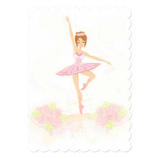 Convite bonito da bailarina convite 12.7 x 17.78cm