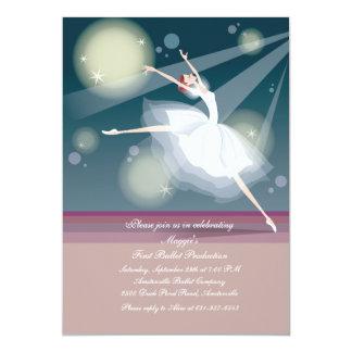 Convite bonito da bailarina