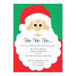 Convite bonito da festa natalícia do Natal do Convite 12.7 X 17.78cm