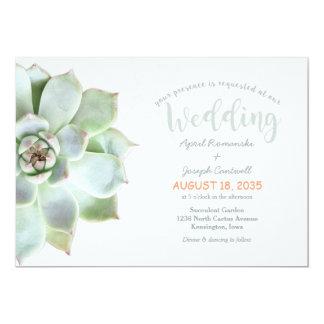 Convite bonito do casamento do cacto do Succulent