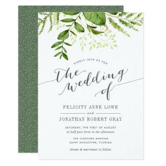 Convite botânico do casamento do prado selvagem