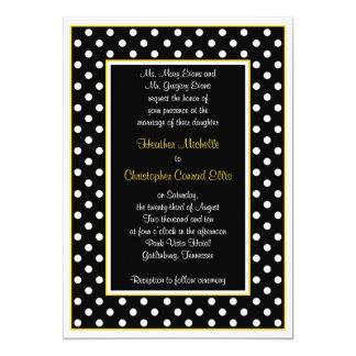 Convite branco amarelo preto do casamento das