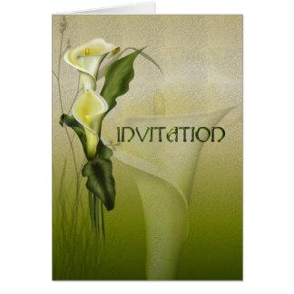 Convite branco do casamento do Calla